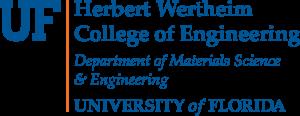 UF Herbert Wertheim College of Engineering Department of Materials Science and Engineering logo