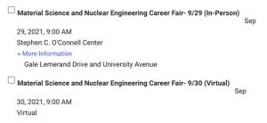 career fair registration